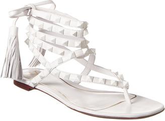 Valentino Rockstud Flair Ankle Wrap Leather Sandal