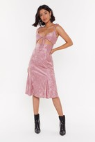 Nasty Gal Womens Sleek Out Satin Midi Dress - Pink - 6, Pink