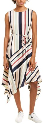 Maggy London Women's Stripe Charmeuse Fit and Flare
