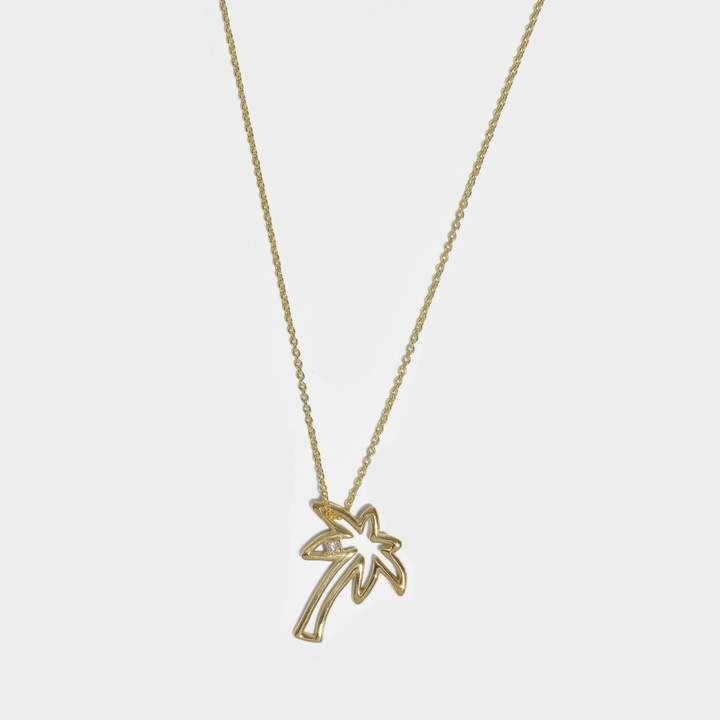 ALIITA Necklace in 9K Yellow Gold with Diamond