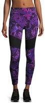The North Face Motivation Mesh Performance Leggings, Wood Violet Roses Print