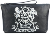 Alexander McQueen skull coat of arms clutch - men - Calf Leather - One Size