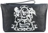 Alexander McQueen skull coat of arms clutch