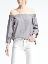 Banana Republic Stripe Off-Shoulder Top