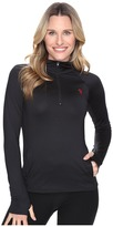 U.S. Polo Assn. Poly/Spandex Long Sleeve 1/4 Zip Active Knit Top
