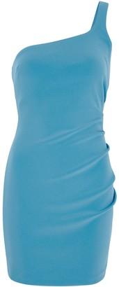 Bec & Bridge Paloma blue one-shoulder mini dress