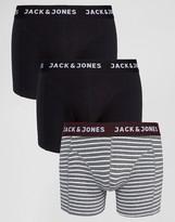 Jack and Jones Trunks 3 Pack Stripe