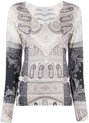 Etro Print Mix Fitted Jumper