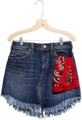 Free People Bailey Fray Hem Denim Mini Skirt