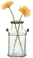 3R Studio Glass Vase with Metal Frog Lid