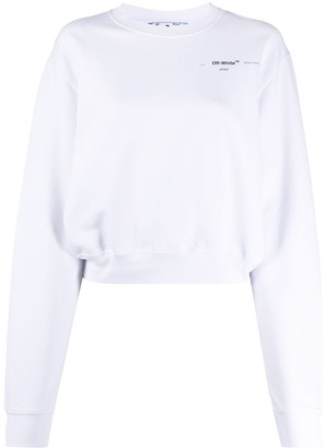 Off-White Meteor Palette cropped sweatshirt