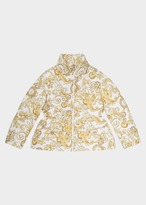 Versace Baroque Print Quilted Jacket