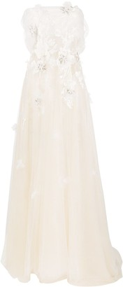 Loulou Applique Detail Gown