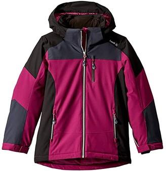 Kamik Liora Ski Jacket (Toddler/Little Kids/Big Kids) (Berry Black/Berry Noir) Girl's Coat