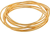 Thin Gold Bangle Set