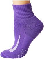 Nike Elite Cushion Quarter Running Socks Quarter Length Socks Shoes