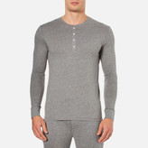 Paul Smith Long Sleeve Cotton Henley Top Grey
