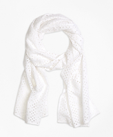 Brooks Brothers Cotton Eyelet Scarf