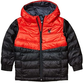 Spyder Mini Timeless Hoodie Synthetic Down Jacket (Toddler/Little Kids) (Black) Boy's Clothing