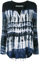 Raquel Allegra Henly twill tie-dye T-shirt - women - Rayon - 0