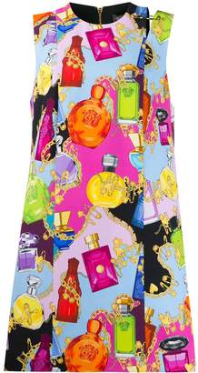 Versace perfume printed short dress