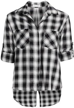 Bella Dahl Check Split-Back Shirt