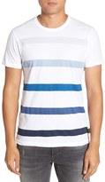 French Connection Men's 'Trident' Stripe Gradient T-Shirt