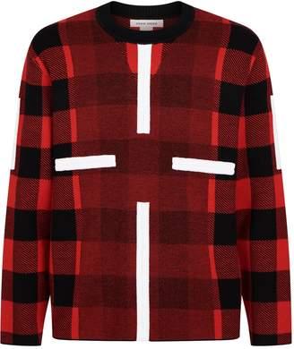 Craig Green Birdseye Check Wool Sweater