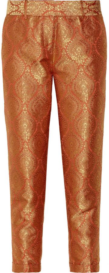 Elizabeth and James Anselm jacquard straight-leg pants