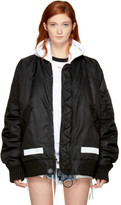 Off-White Black Brushed Arrows Bomber Jacket
