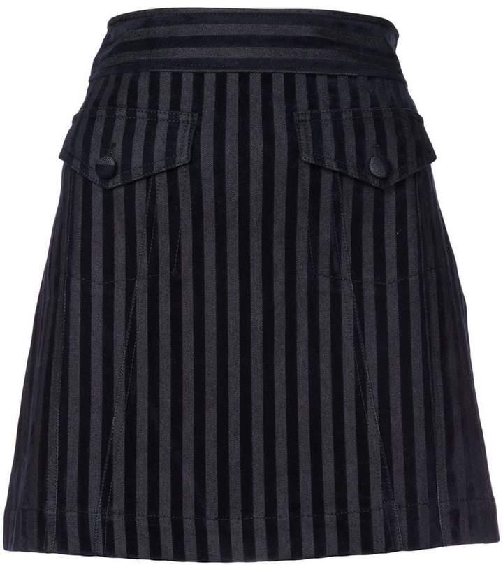 Derek Lam 10 Crosby A-Line Mini Skirt