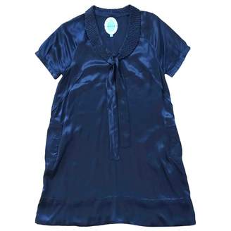 April May Navy Silk Dress for Women