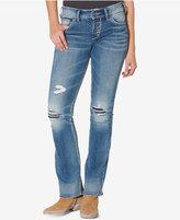 Silver Jeans Co. Suki Ripped Indigo Wash Bootcut Jeans