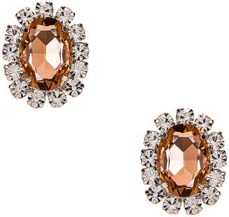 Area Costume Gemstone Earrings in Peach | FWRD