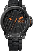 BOSS ORANGE Men's Black Silicone Strap Watch 50mm 1513004