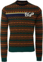 Prada Patterned Wool and Cashmere-Blend Sweater