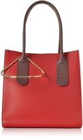 Roksanda Red and Chestnut Leather Mini Weekend Bag