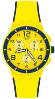 Swatch Men's Chrono Plastic SUSJ401 Silicone Quartz Watch