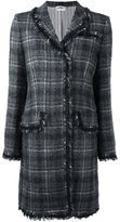 Thom Browne windowpane check tweed coat