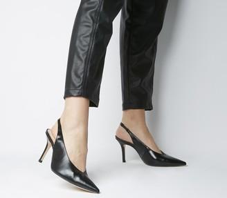 Office Minxy Slingback Heels Black Venus Luxe