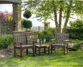 Polywoodâ® Vineyard 3 Piece Seating Group POLYWOODA Color: Mahogany