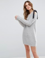 Glamorous Sweater Dress With Bow Shoulder
