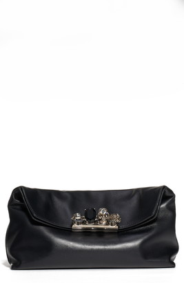 Alexander McQueen Four Ring Leather Pouch