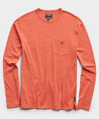 Todd Snyder Long Sleeve Heather Tee in Cayenne