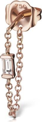 Maria Tash Diamond Baguette Chain Wrap Stud Earring