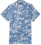 Polo Ralph Lauren Camp-Collar Printed Linen And Cotton-Blend Shirt