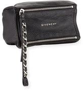 Givenchy Pandora Leather Wristlet Pouch Bag, Black