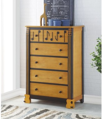 ACME Furniture Acme Petrus Wooden Frame Chest in Honey Oak and Espresso