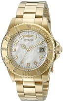 Invicta Women's 21533SYB Pro Diver Analog Display Swiss Quartz Gold-Plated Watch