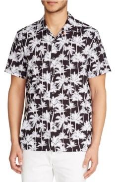 Tallia Men's Palm Tree Camp Shirt